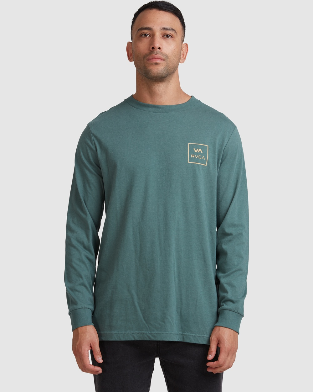 RVCA - Va All The Ways Ls Tee - T-Shirts & Singlets (BALSAM GREEN) Va All The Ways Ls Tee