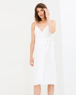 Jillian Boustred – Beatrix Wrap Dress White