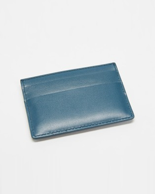 PS by Paul Smith Tie Dye Credit Card Wallet - Wallets (Teal & White)