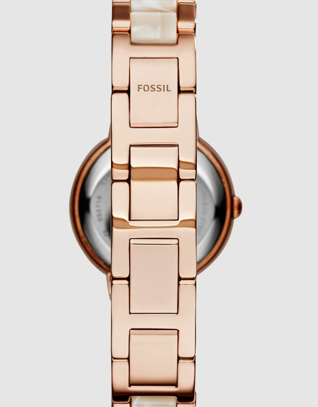 Fossil - Virginia Rose Gold-Tone Analogue Watch
