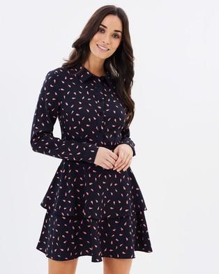 Atmos & Here – Alya Layered Shirt Dress Petal Print