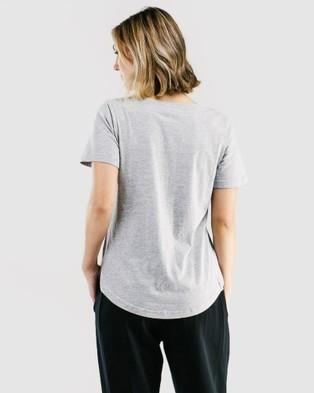 Avila The V Tee - Short Sleeve T-Shirts (Grey)