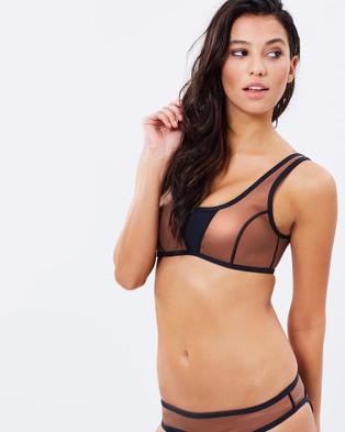 Duskii – Ochre Crop Bikini Top Amber