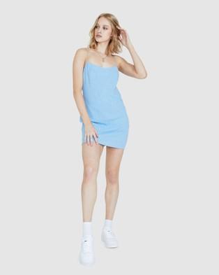 Alice In The Eve Bias Cut Slip Dress - Dresses (BLUE)