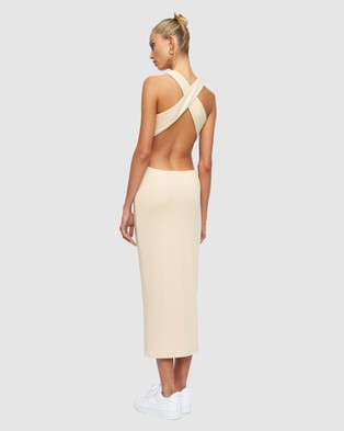Lioness The Clare Dress - Bodycon Dresses (Oatmeal)