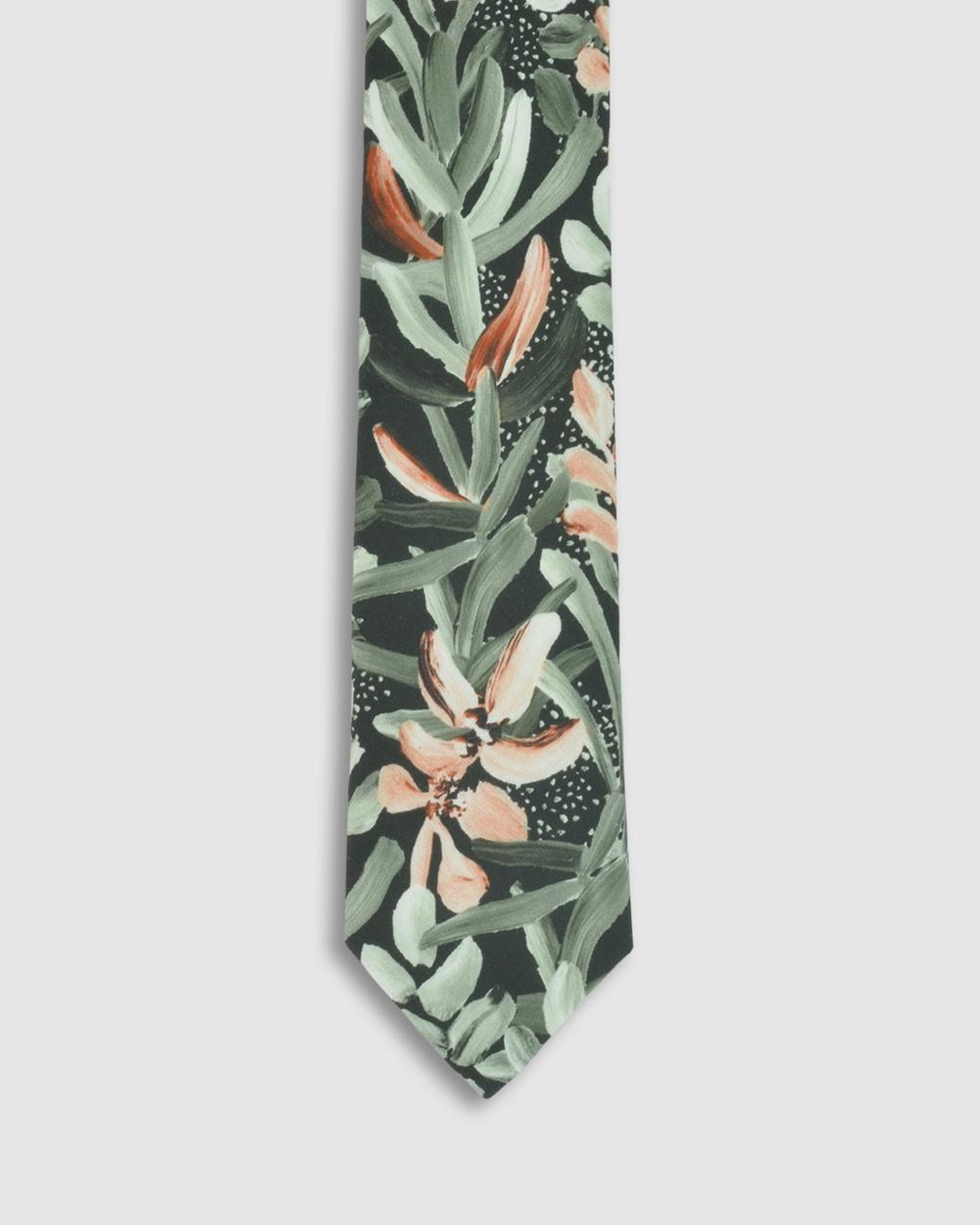 Peggy and Finn Protea Tie Ties Green Australia