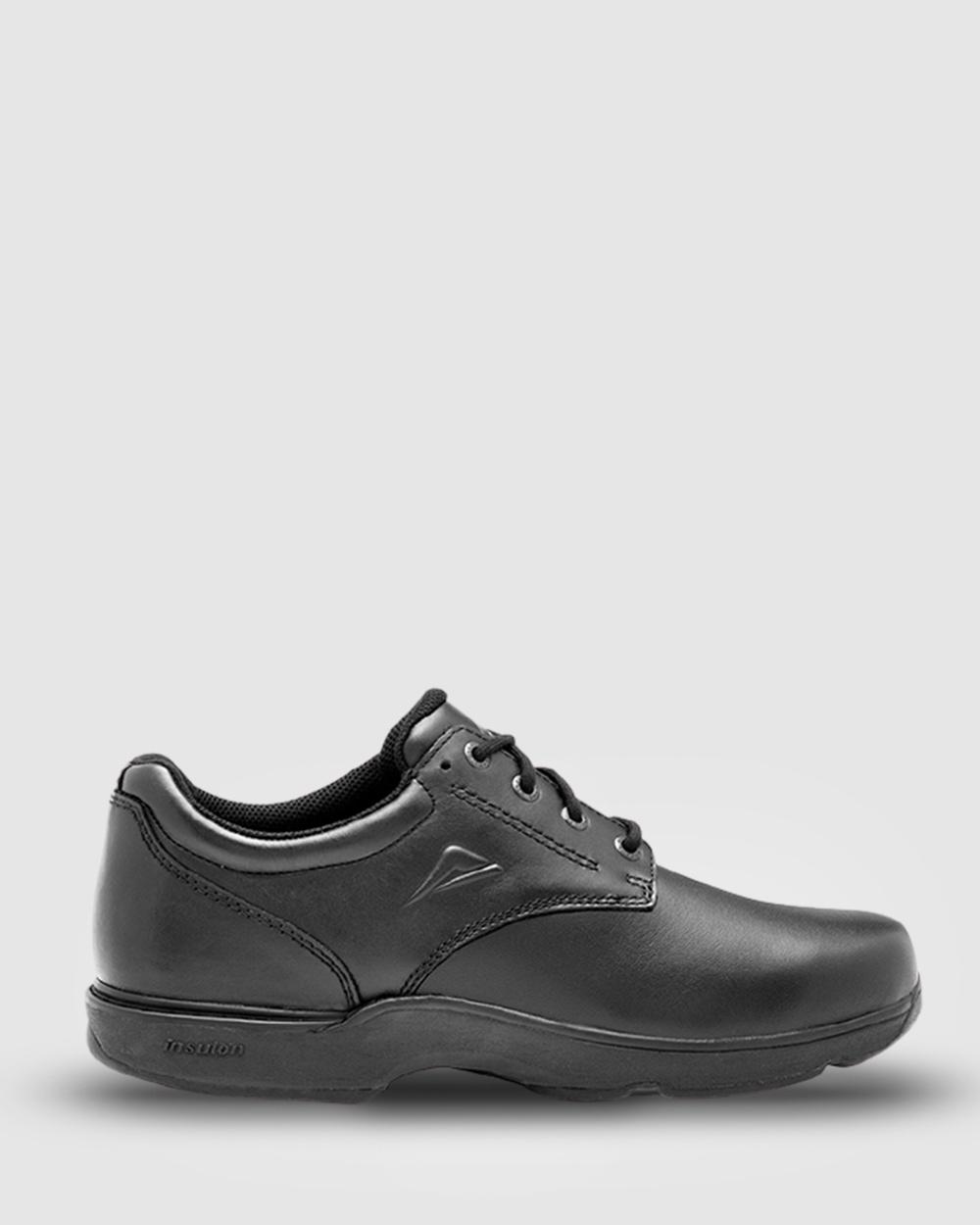 Ascent Apex B Width School Shoes Black Australia