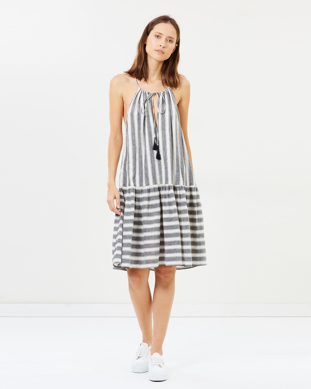 Akin by Ginger & Smart Stripe Unison Drawstring Dress