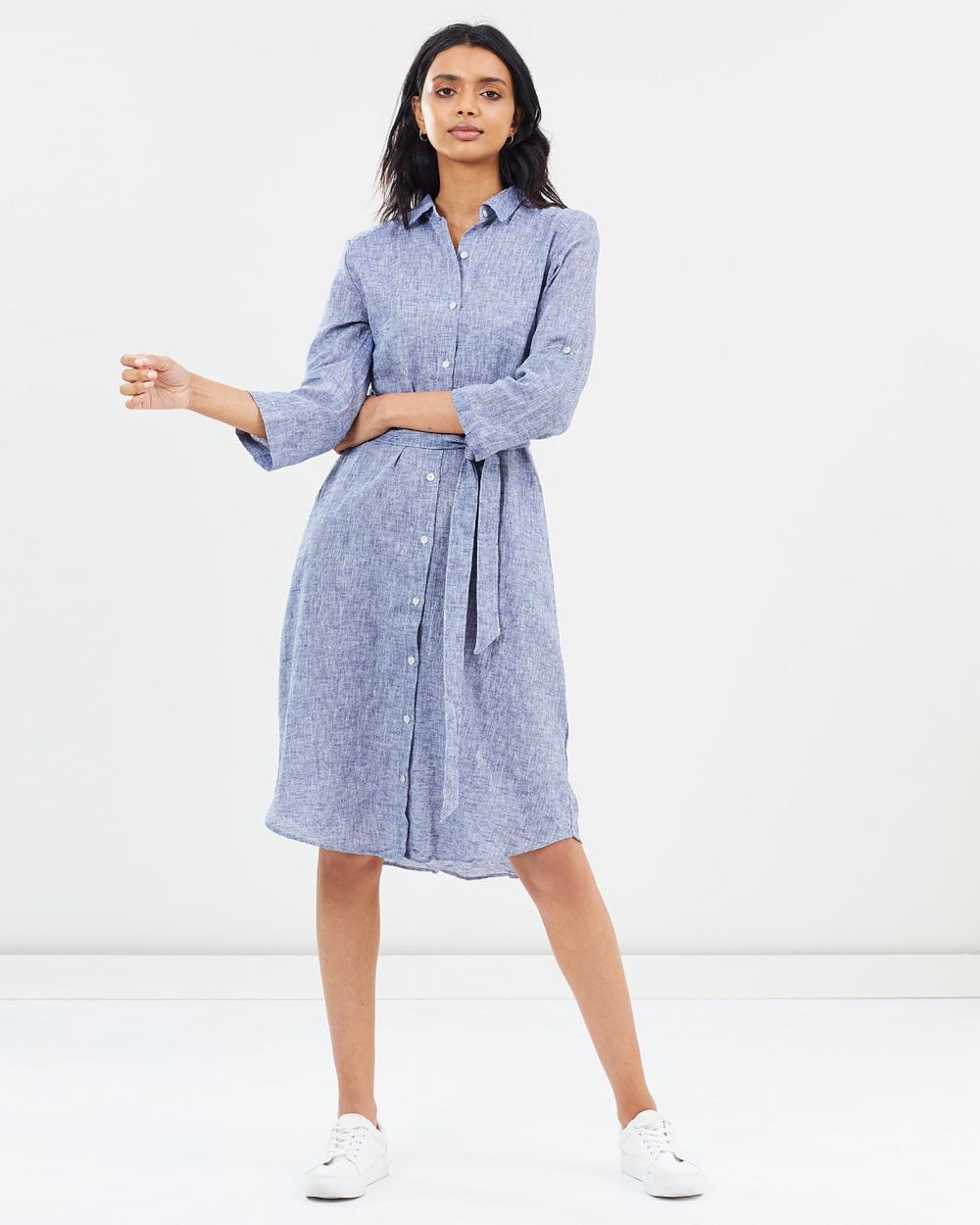 Wite Isabel Shirt Dress Dresses Navy Isabel Shirt Dress