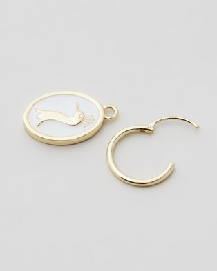 Serge DeNimes Peacock Earring - Jewellery (Gold)
