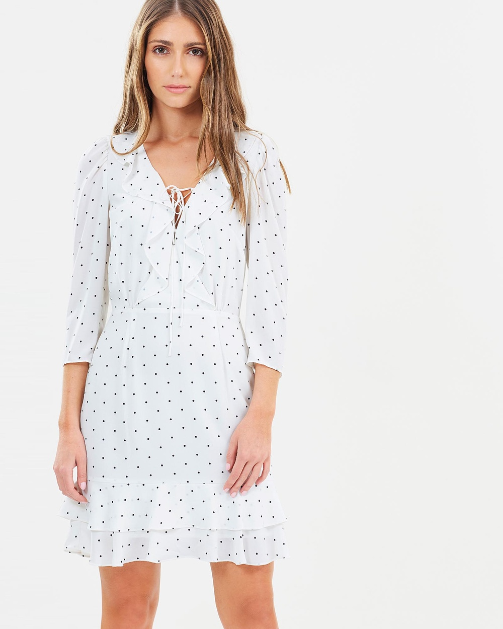 Cooper St Portia Long Sleeve Mini Dress Printed Dresses Print Portia Long Sleeve Mini Dress