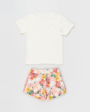 adidas Originals Short Tee Set Kids Shorts Cream White, Multi & Black