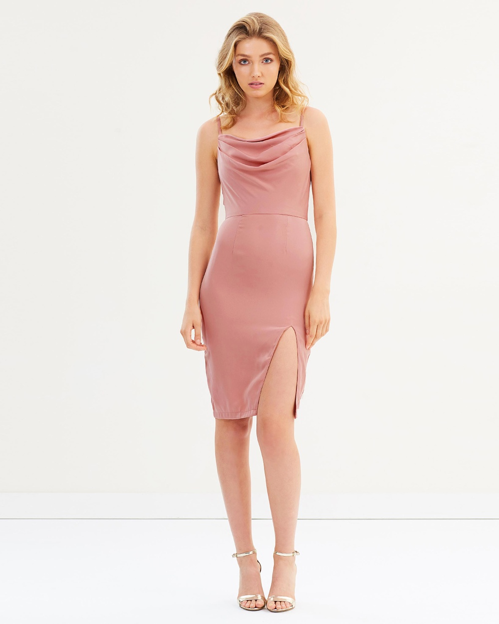 Chi Chi London Federica Dress Bodycon Dresses Pink Federica Dress