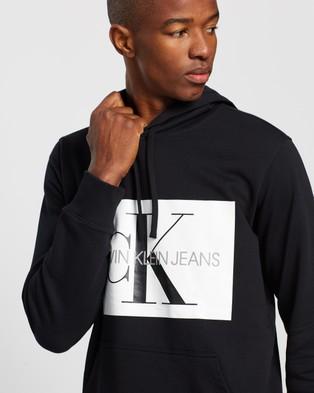 Calvin Klein Jeans Monogram Box Logo Regular Hoodie - Hoodies (Black)