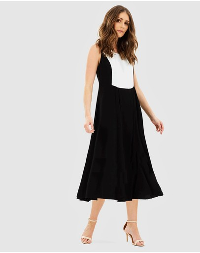 Privilege - Shadowed Midi Dress