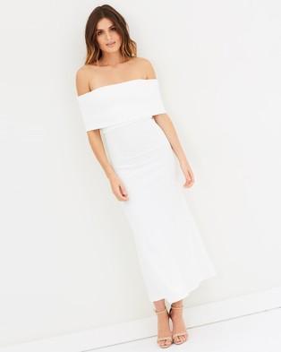 Michael Lo Sordo – Legion Cold Shoulder Maxi Dress – Bodycon Dresses (Ivory)