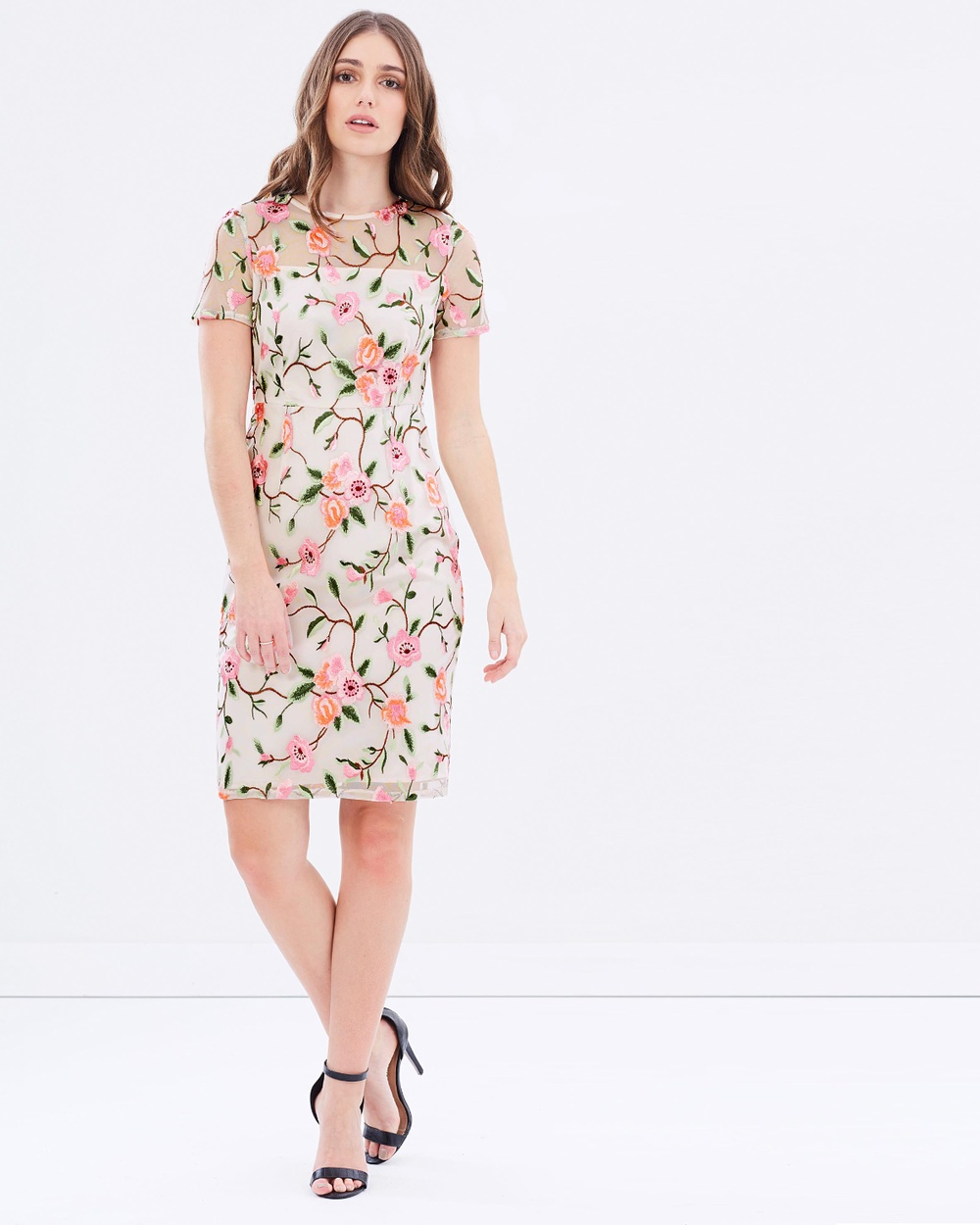 Dorothy Perkins Embroidered Dress Dresses Multi Embroidered Dress