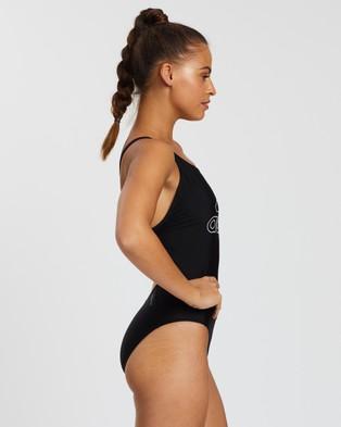 adidas Swim - Badge Of Sport Logo Swimsuit One-Piece / (Black & White)