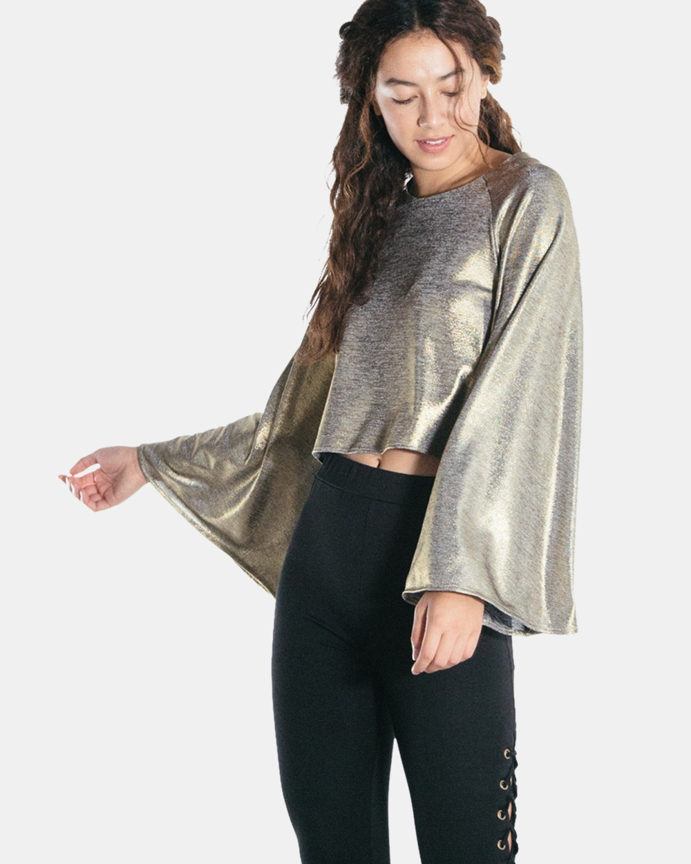 The Rushing Hour Glory Box Blouse Cropped tops Gold Glory Box Blouse