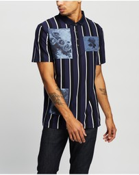Kent and Curwen - Rose Print Short Sleeve Polo