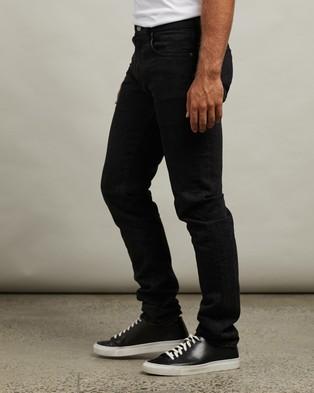 RRL by Ralph Lauren Slim Narrow 5 Pocket Denim Jeans Worn In Black Wash 5-Pocket