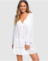 Roxy - Womens Under The Moon Long Sleeve Summer Dress