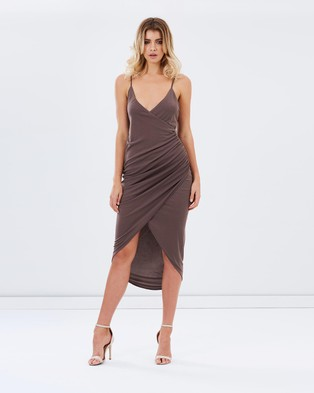 Buy Atmos & Here - Desire Stretch Gathered Maxi Dress - Bodycon Dresses (Dusty Orchid) -  shop Atmos & Here dresses online