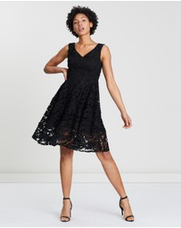 French Connection - Lace V-Neck Sleeveless Dress