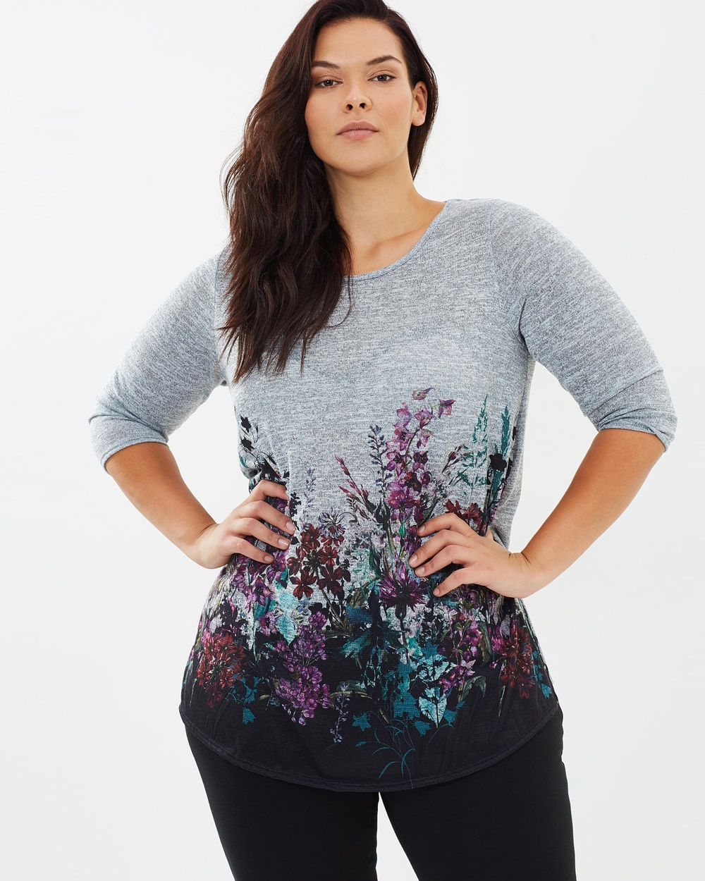 Photo of EVANS EVANS Wild Flower Border Print Tunic Tops Grey Wild Flower Border Print Tunic - For fashion that flatters and celebrates your curves, look no further than EVANS. With a range of on-trend dresses, chic office-ready separates and weekend staples designed with the fuller figure in mind, EVANS is the perfect addition to any style-savvy wardrobe. Our model is wearing a size UK 18 tunic. She usually takes a standard AU 18, is 5'11