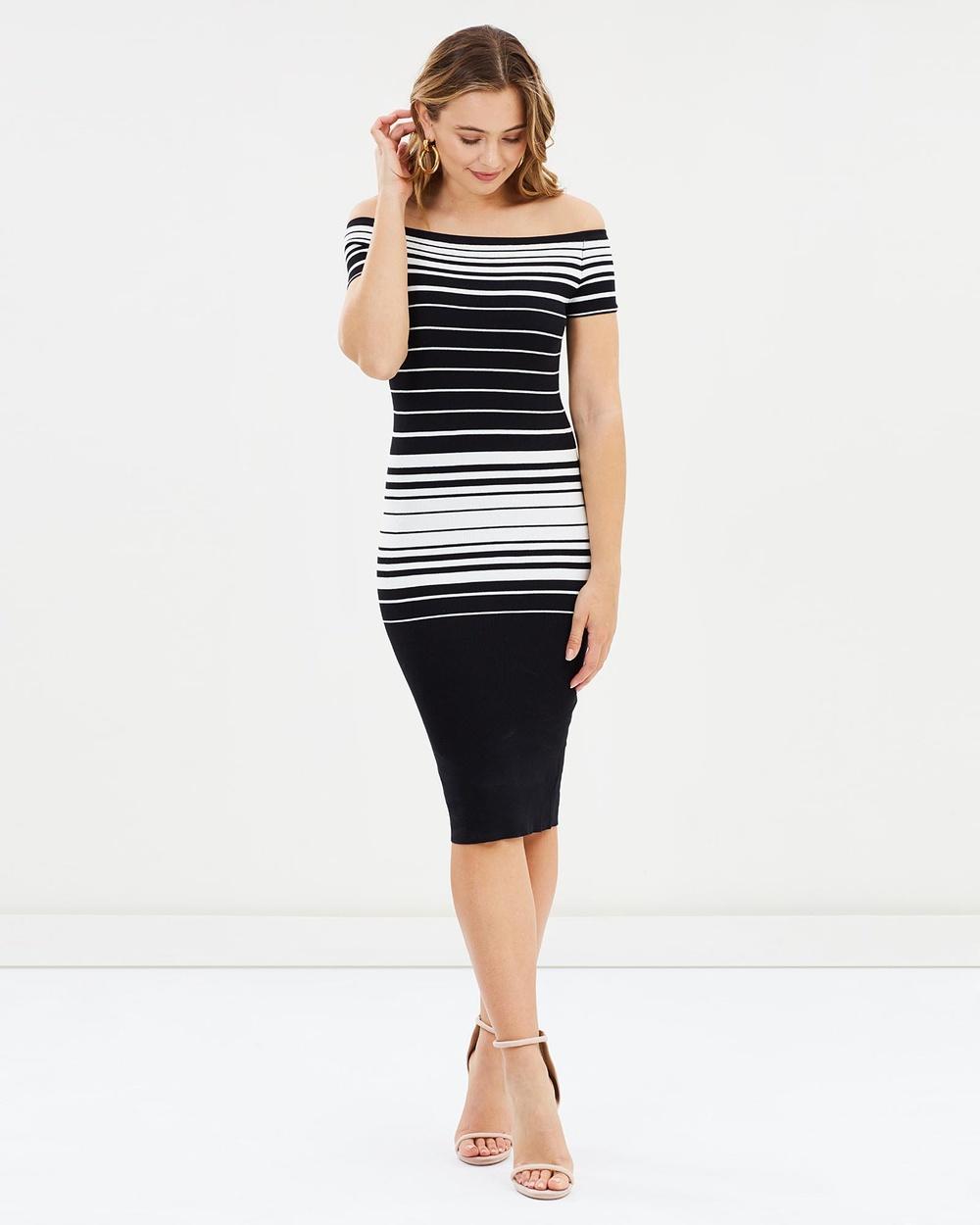 SNDYS Black & White Taylor Dress