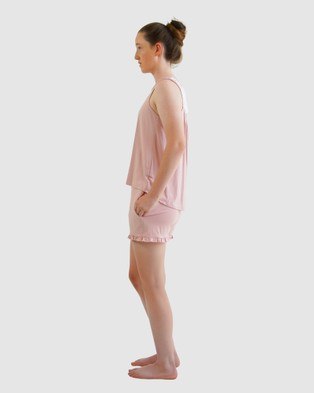 Love Haidee Sleep Shorts & Sleep Tank Set - Two-piece sets (Pink)