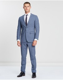 BROOKS BROTHERS - Milano Fit BrooksCool Two-Button Pantsuit