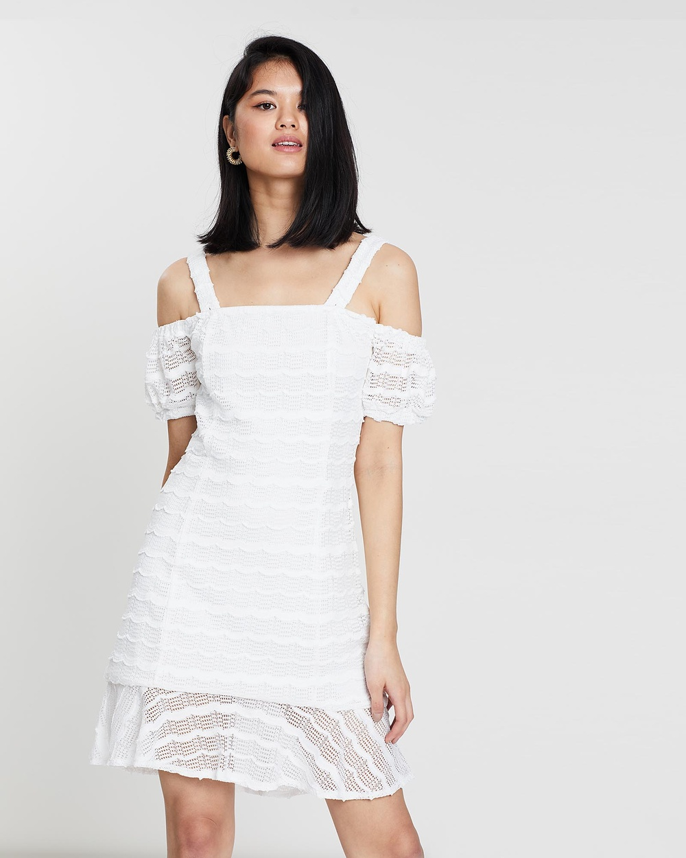 Otto Mode White Birds of a Feather Dress