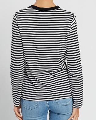 Nobody Denim Organic Classic LS Tee - T-Shirts & Singlets (Stripe)