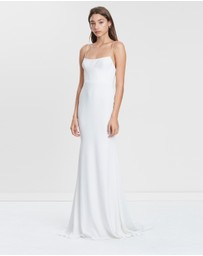 Alex Perry - Kyle Satin Crepe Singlet Gown