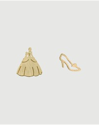 Short Story - Disney Earring Cinderella Dress and Shoe