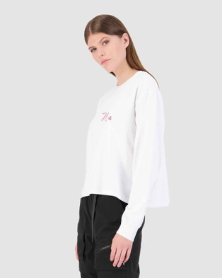 Huffer - LS Laneway Tee Unwind - T-Shirts & Singlets (White) LS Laneway Tee-Unwind