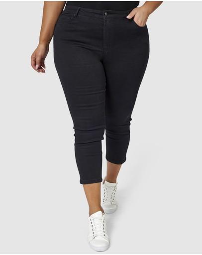 Indigo Tonic Bobbie Curve Skinny Crop Jeans Black