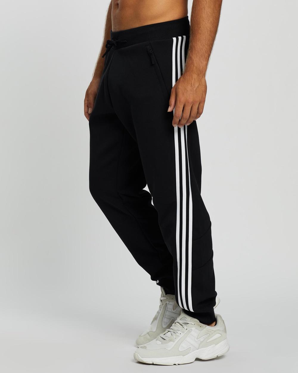 adidas Performance 3 Stripes Sweat Pants Track Black 3-Stripes