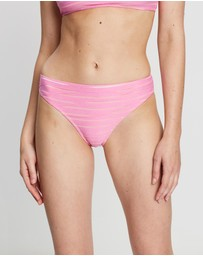 Textured Striped Cheeky Mini Briefs
