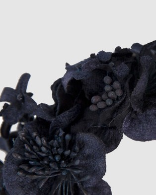 Max Alexander Flower Crown Fascinator Fascinators Navy