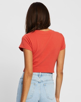 Abrand A 90s Crop Tee - Cropped tops (Rust Red)