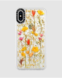 Casetify - Luxe Pressed Flower Phone Case for iPhone XS/ iPhone X - Daisy