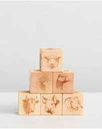 Noc Noc - Farm Animal Faces Wooden Blocks