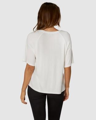 Apero Label - Blanc Beaded Oversized Tee - T-Shirts & Singlets (White ) Blanc Beaded Oversized Tee