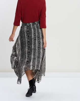 Faye Black Label Venom Midi Skirt - Skirts (Snake)