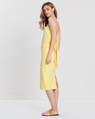 FRIEND of AUDREY Campbell Back Tie Dress - Dresses (Lemon)