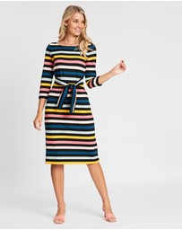 Review - Cavello Stripe Ponte Dress