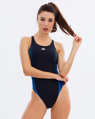 adidas Swim – Adiclub One Piece – One-Piece Swimsuit Black, Equipment Yellow & Equipment Blue