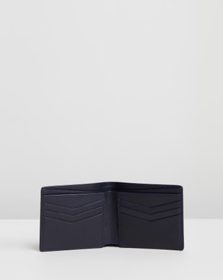 Gieves and Hawkes Saffiano Leather Billfold Wallet - Wallets (Blue)